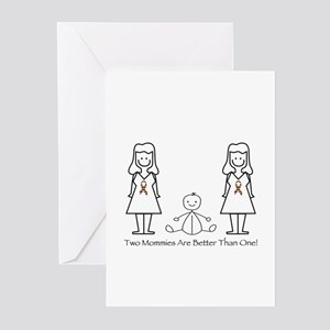 LGBT 2 Mommies Greeting Cards (Pk of 10)