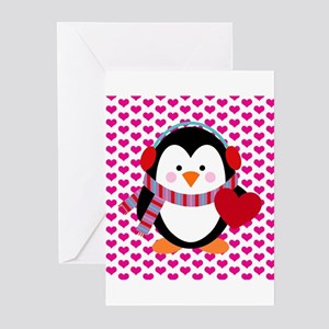 Valentines Day Penguin Greeting Cards (Pk of 10)