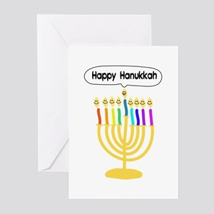 Happy Hanukkah Menorah Greeting Cards (Pk of 10)