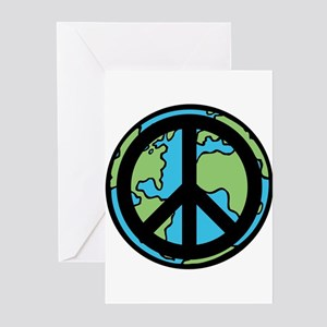 Peace on Earth in Black Greeting Cards (Pk of 10)