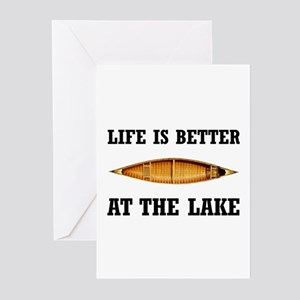 Better At Lake Greeting Cards