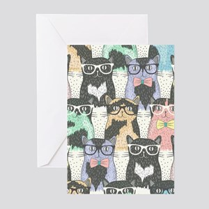 Hipster Cats Greeting Cards (Pk of 10)