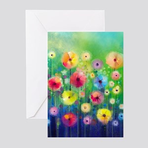 Watercolor Flowers Greeting Cards (Pk of 10)