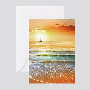 Tropical Beach Greeting Cards (Pk of 10)