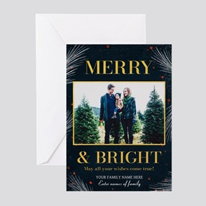 Merry Bright Branches Greeting Cards