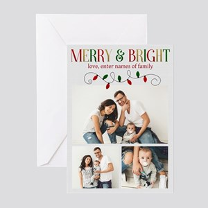 Merry and Bright Lights Greeting Cards