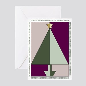 deco tree card Greeting Cards