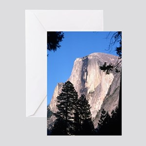 Half Dome Over Trees Greeting Cards (Pk of 10)