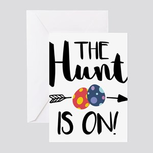 Funny Easter Egg Hunting design - T Greeting Cards