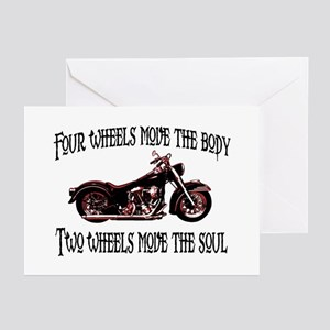 Two Wheels Move Greeting Cards (Pk of 10)