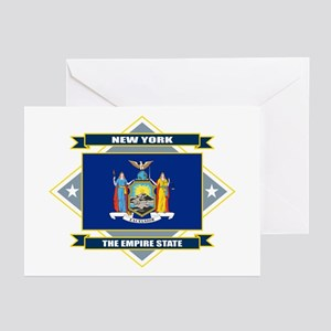 New York Flag Greeting Cards (Pk of 10)