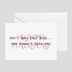 Don't Hate Your Body/Love You Greeting Cards (Pack
