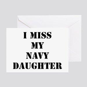 I Miss My Navy Daughter Greeting Cards (Package of