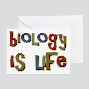 Biology is Life Pun Science Major Greeting Cards (
