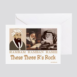 Three Rabbis Rock Greeting Cards (Pk of 10)