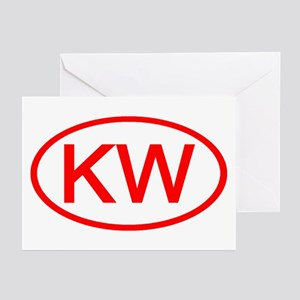 KW Oval (Red) Greeting Cards (Pk of 10)