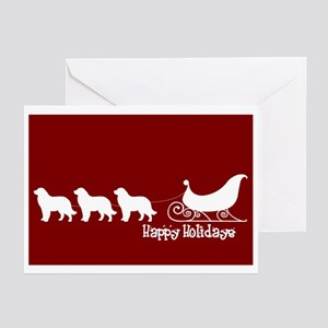 "Newfoundland ""Sleigh"" Greeting Cards (Pk of 10"