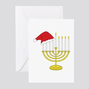 Hanukkah And Christmas Greeting Cards