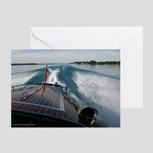 Classic Boat D1121-023 Greeting Cards (Pkg. of 6)