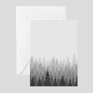 Gray Forest Greeting Cards