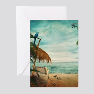 Vintage Beach Greeting Cards