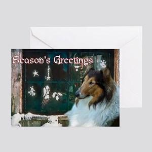 Rough Collie Christmas Greeting Cards (Pk of 10)