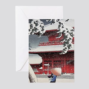Vintage Japanese Painting Greeting Cards