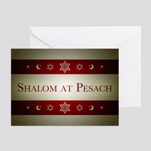 shalom at pesach Greeting Cards
