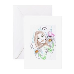 Designs by Margie Ybarra Greeting Cards (Package o