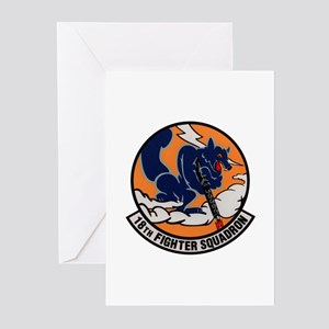 18th Fighter Squadron Greeting Cards (Pk of 10