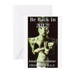 Anunnaki Statue Picture Greeting Cards (Package of