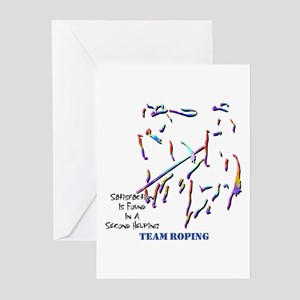 Team Roping Greeting Cards (Pk of 10