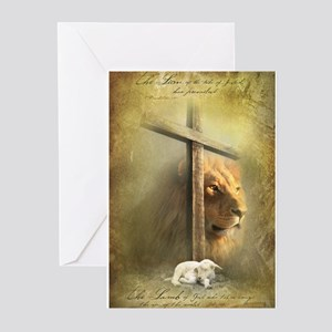 The Lion and the Lamb Greeting Cards