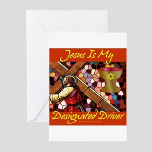 Jesus is my driver Greeting Cards (Pk of 10)
