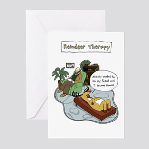 Reindeer Therapy Greeting Cards (Pk of 10)