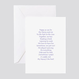 A POEM FOR NANNY Greeting Cards (Pk of 10)