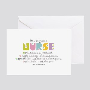 How To Grow A Nurse Greeting Cards Pk Of 10