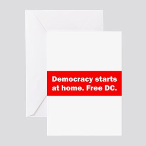 Democracy Starts at Home Greeting Cards (Pk of 10)