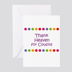 cac2bbee Thank Heaven for Cousins Greeting Cards (Pk of 10)