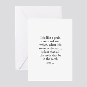 MARK  4:31 Greeting Cards (Pk of 10)