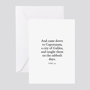 LUKE  4:31 Greeting Cards (Pk of 10)