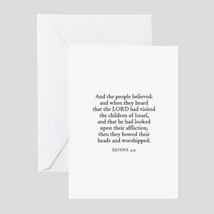 EXODUS  4:31 Greeting Cards (Pk of 10)
