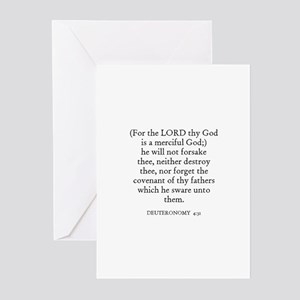 DEUTERONOMY  4:31 Greeting Cards (Pk of 10)