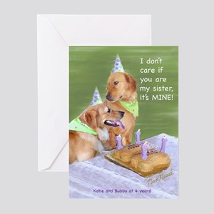 Golden Retriever Birthday Card Pk Of 10