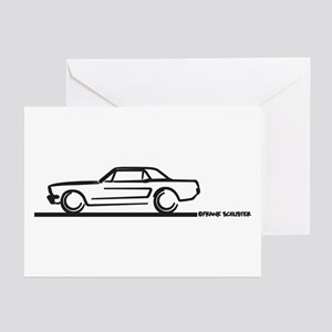 Mustang 64 to 66 Hardtop Greeting Cards (Pk of 10)