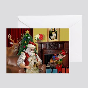 Santa's Wheaten (#7) Greeting Cards (Pk of 10)