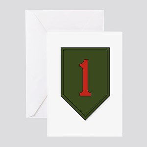 1st Infantry Division Greeting Cards (Pk of 10)