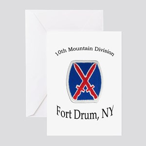 10TH MOUNTIAN DIV Greeting Cards (Pk of 10)