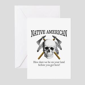 Native American (skull) Greeting Cards
