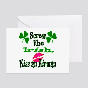 Kiss an airman Greeting Cards (Pk of 10)